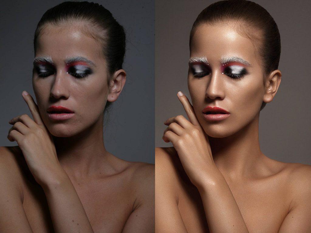bőrhibák eltávolítása Photoshop használtalával