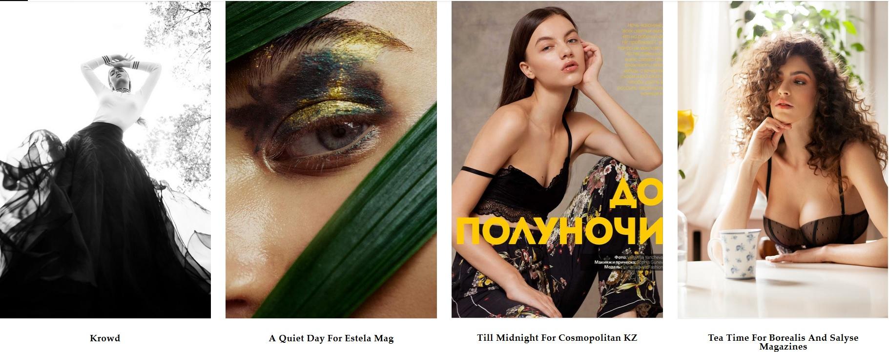 Virginia Yancheva reklám és divatfotós weboldala